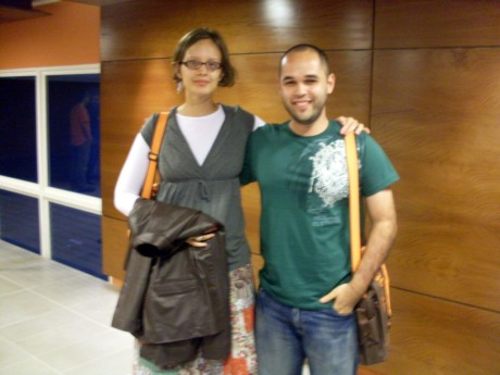With Professor Amanda Meincke Melo (Rede Anhanguera)